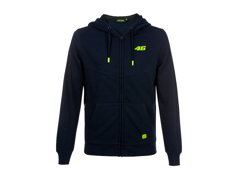 Sweat-shirt Rossi VR46 Core bleu - White