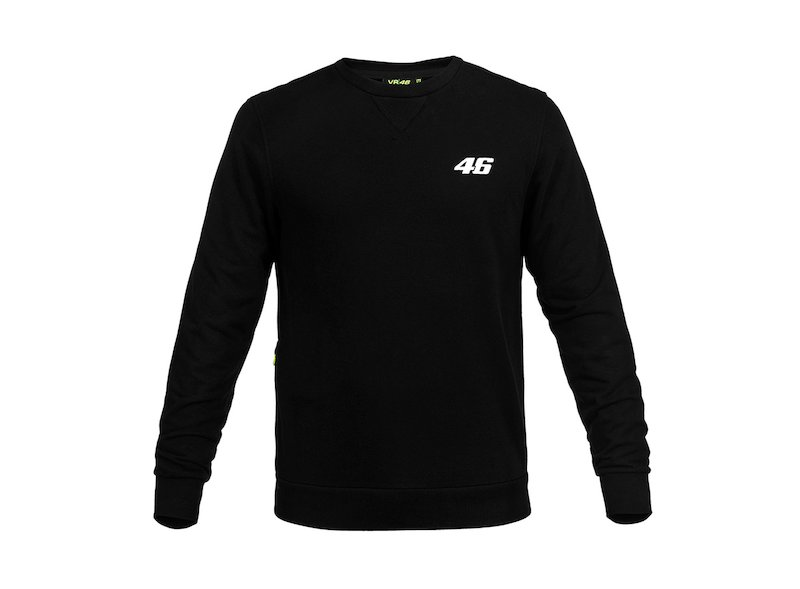 Sweat-shirt noir Rossi Core 46