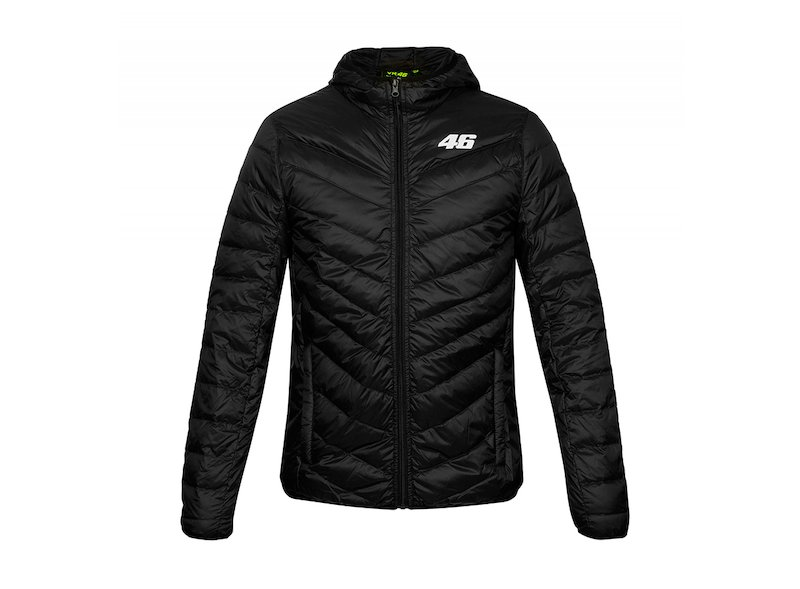 Core VR46 black puffer jacket - White
