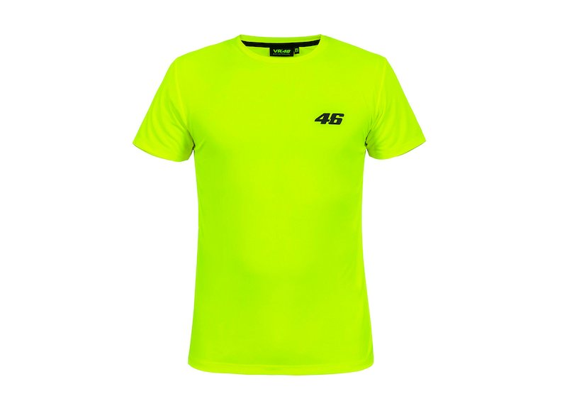 T-shirt VR46-DRY Core fluo - White