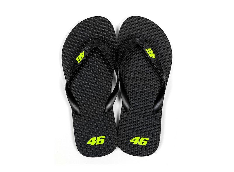 Valentino Rossi Core black flip-flops