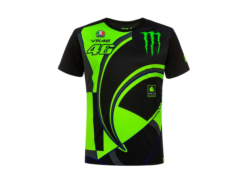 Monster VR46 Rossi Replica T-shirt - White