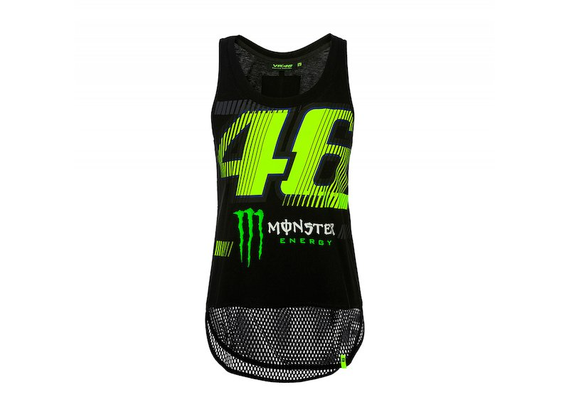 Camiseta de tirantes Rossi Monster muj - White