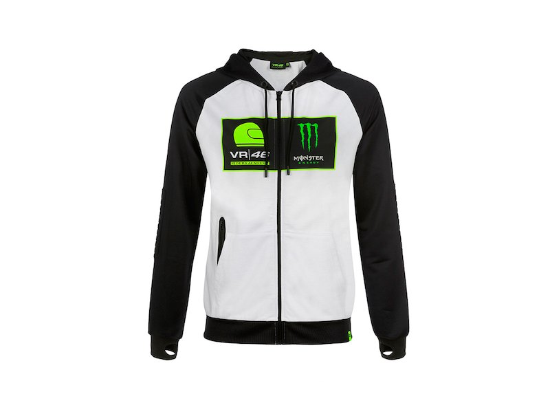 Felpa Riders Academy Rossi Monster - White