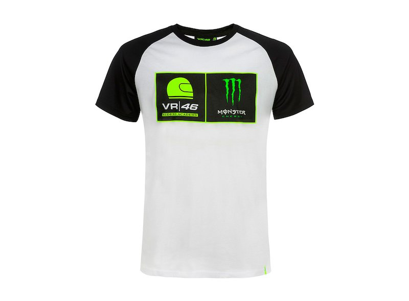 Camiseta Academia de Pilotos VR46 Monster - White