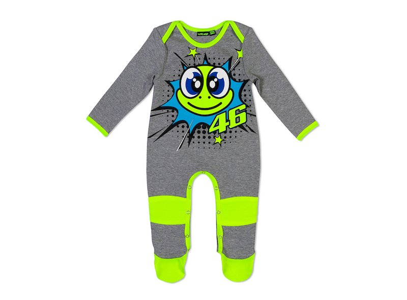 Rossi tortoise baby onesie