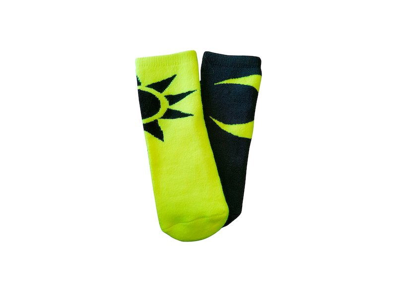 Sun and Moon baby socks VR46 - White