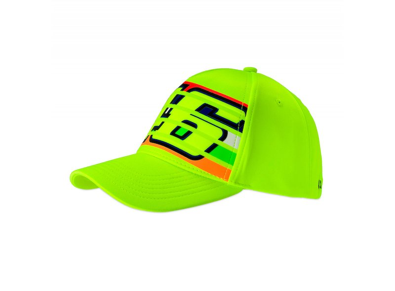 Gorra 46 stripes Rossi flúor - White