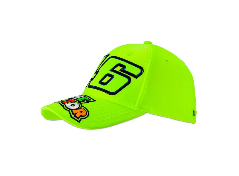 Cappellino fluo 46 Rossi The Doctor - White