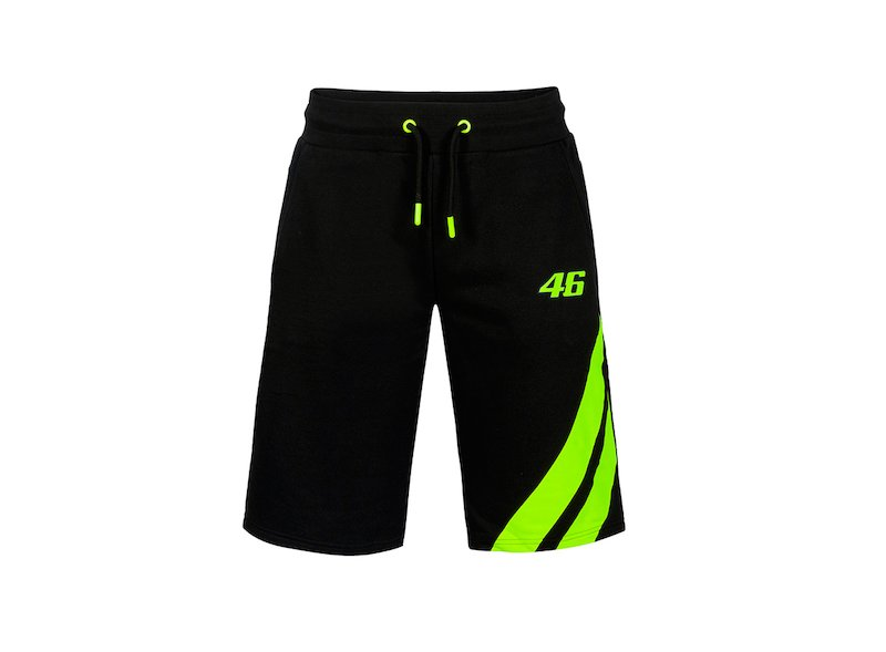 VR46 Black Shorts - White