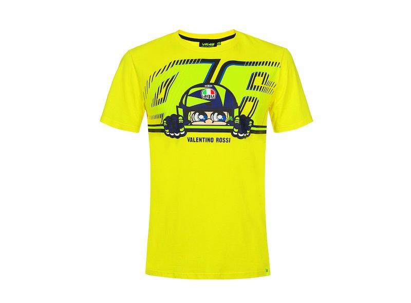 Camiseta VR46 Rossi casco AGV