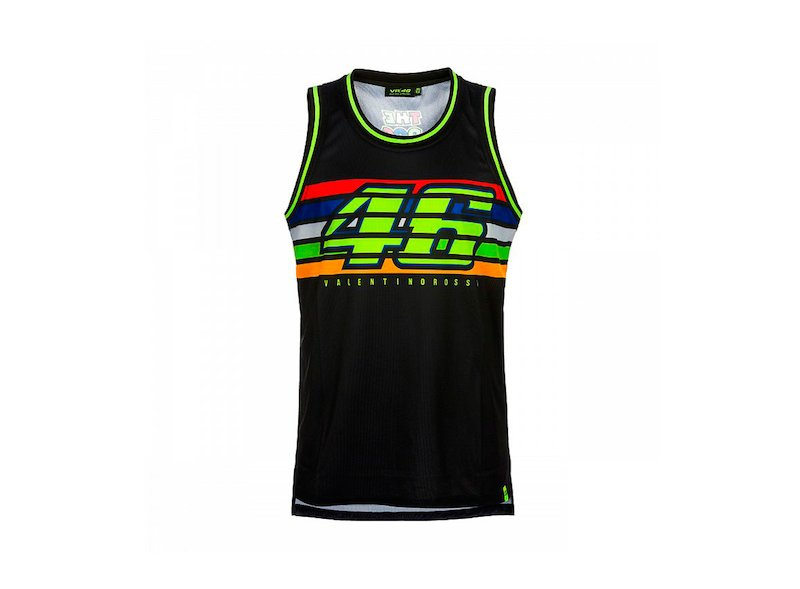 VR46 Black Tank Top - White
