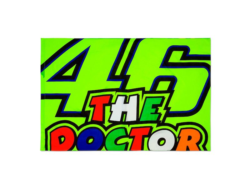 Bandera Valentino Rossi The Doctor - White