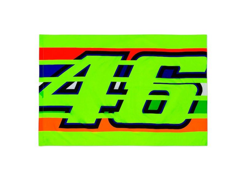 Bandiera 46 Rossi stripes - White