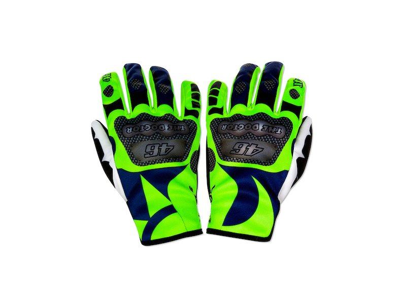 Replica Rossi Motorbike Gloves - White