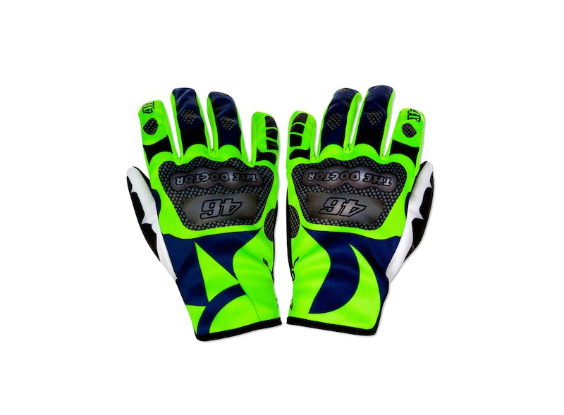 Replica Rossi Motorbike Gloves - White