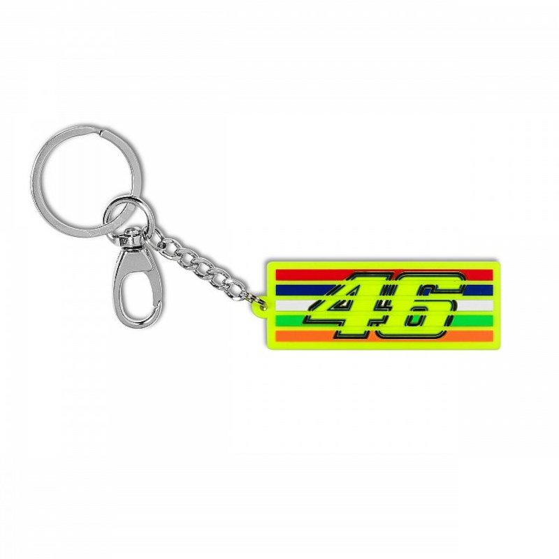 Stripes VR46 Key ring - White