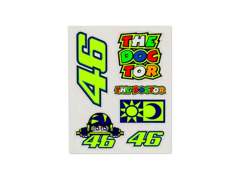 Small set of Valentino Rossi stickers - White