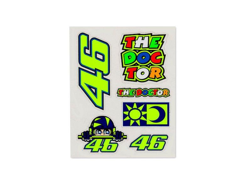 Small set of Valentino Rossi stickers - White