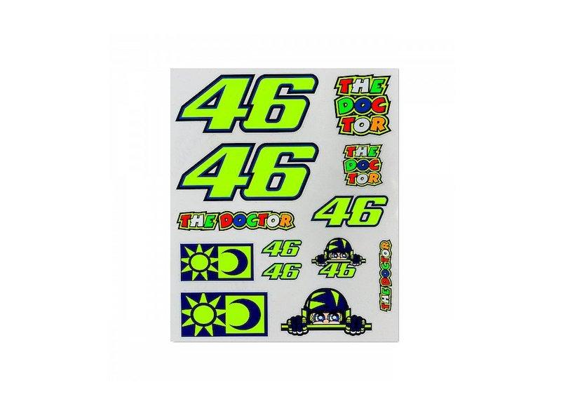 Set adesivi Rossi 46 grandi - White
