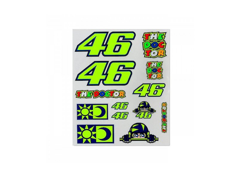 Pack d'autocollants Rossi 46 grand - White
