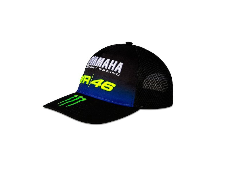 Cappellino nero Yamaha Monster VR46 - White