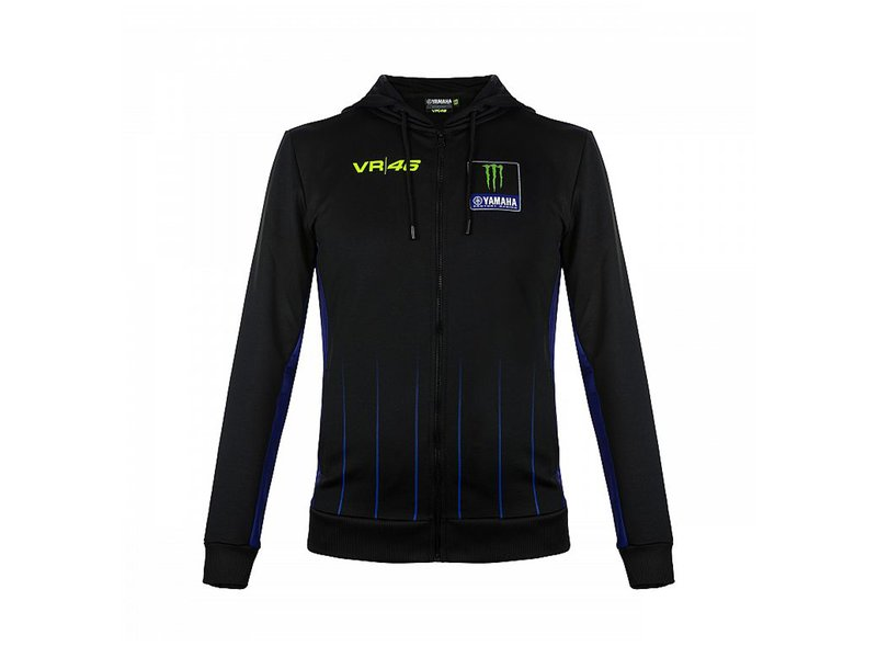 Monster Yamaha VR46 Black Sweatshirt - White
