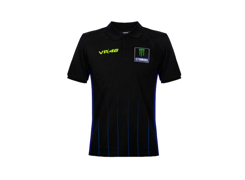Polo Yamaha Rossi Monster Black - White