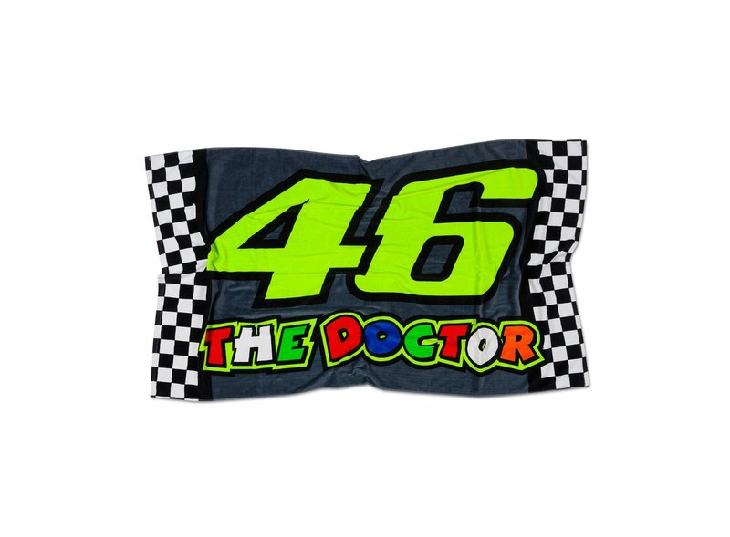 Beach Towel VR46 The Doctor - Black