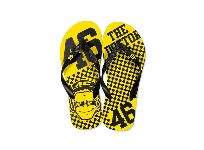 VR46 Dottorone Flip Flops - Yellow
