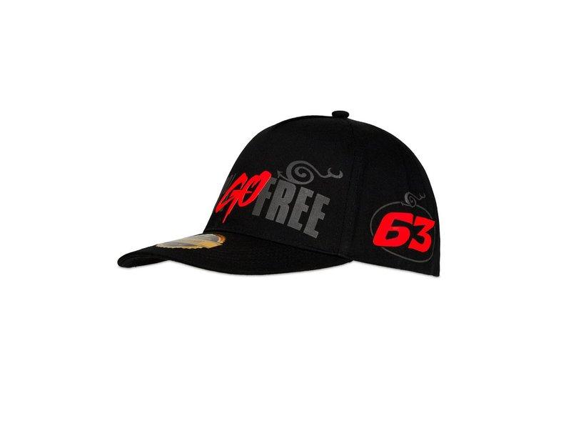 Gorra Pecco Bagnaia Go Free - Black