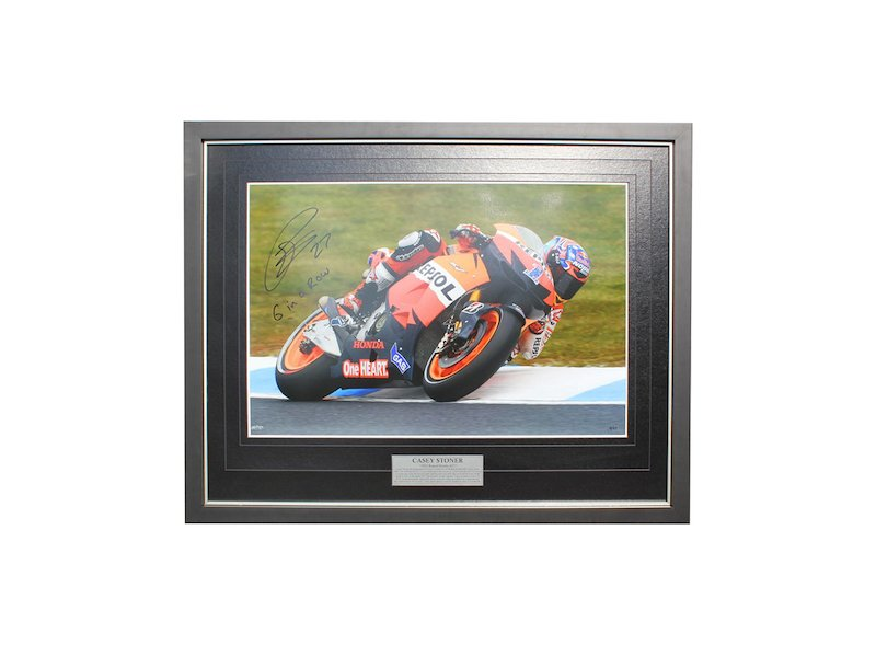 Casey Stoner 6 in a Row Photo - White