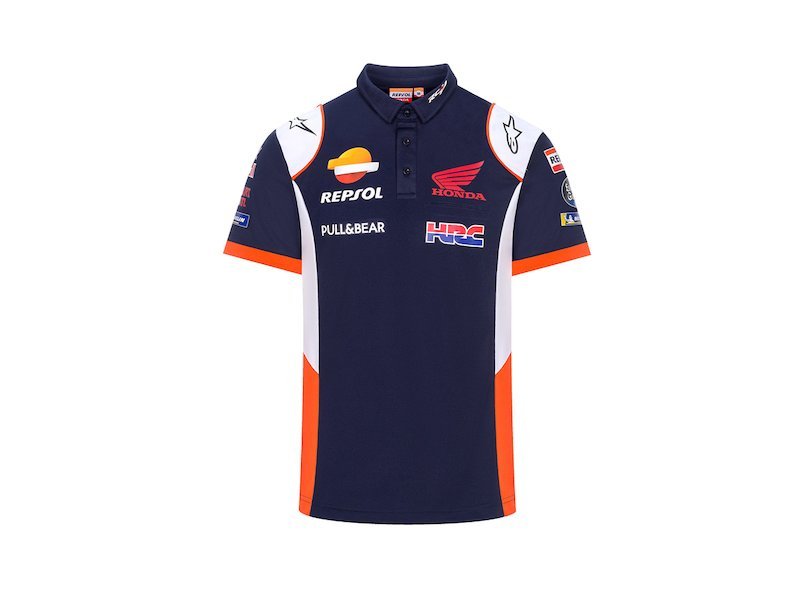 Repsol Honda HRC Replica Polo Shirt - Blue