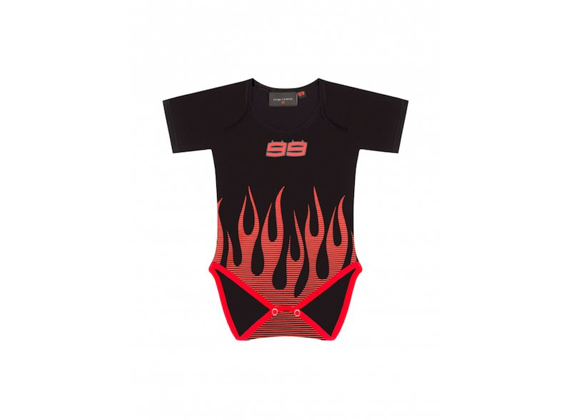 Body Lorenzo 99 Flames Bébé - White