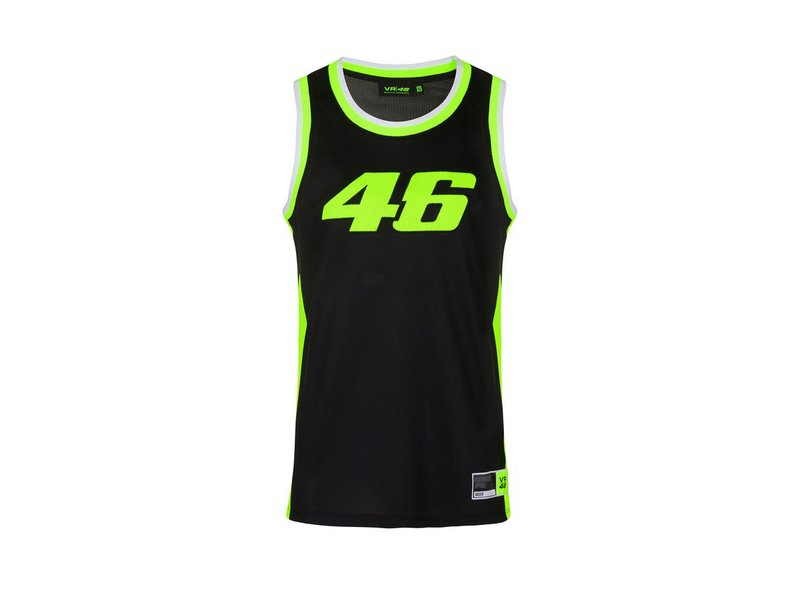 VR46 Basketball Tank Top - Black