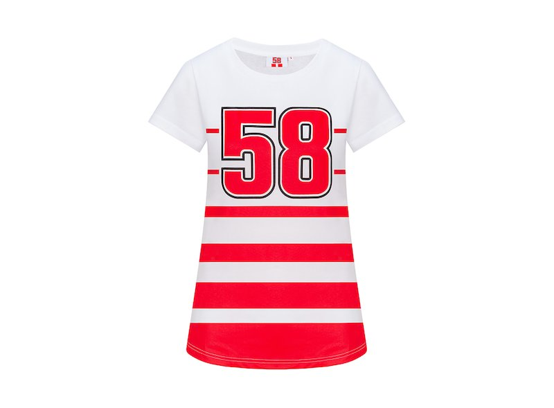 Woman T-Shirt 58 Marco Simoncelli - White