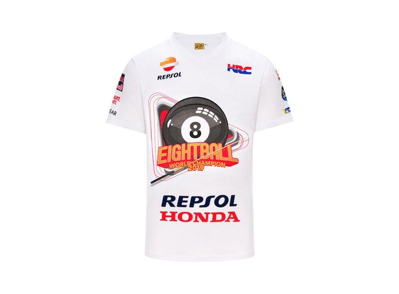 T-shirt Marc Marquez World Champion 2019 8 Ball - White