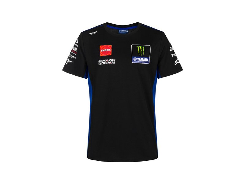 T-shirt Replica Monster Energy Yamaha Team 2021 - Black