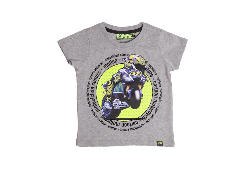 Rossi Moto 46 T-shirt Kid - White
