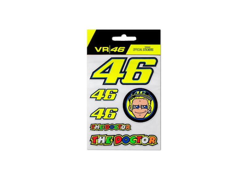 Valentino Rossi Stickers Small Set - White