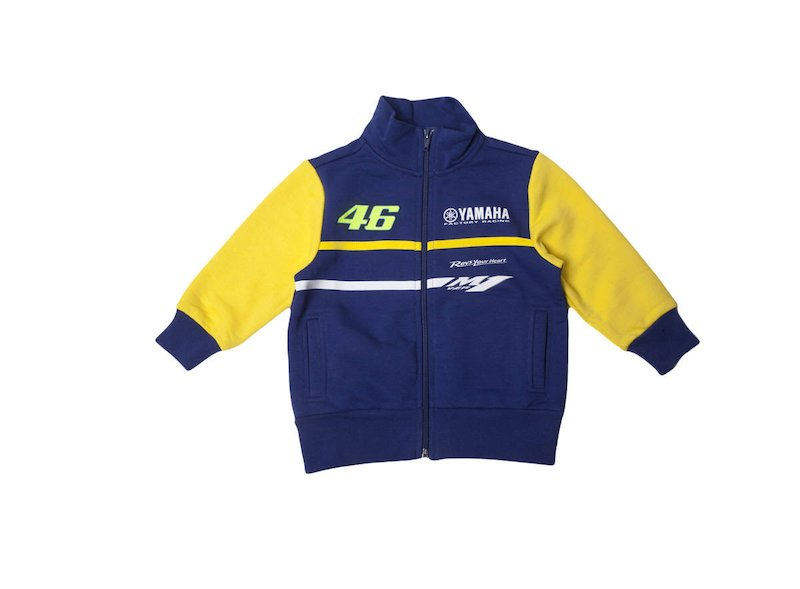 Official Yamaha Rossi VR|46 Fleece Kid - White