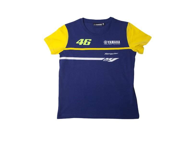 T-shirt Officiel Yamaha Rossi VR|46 Junior - White