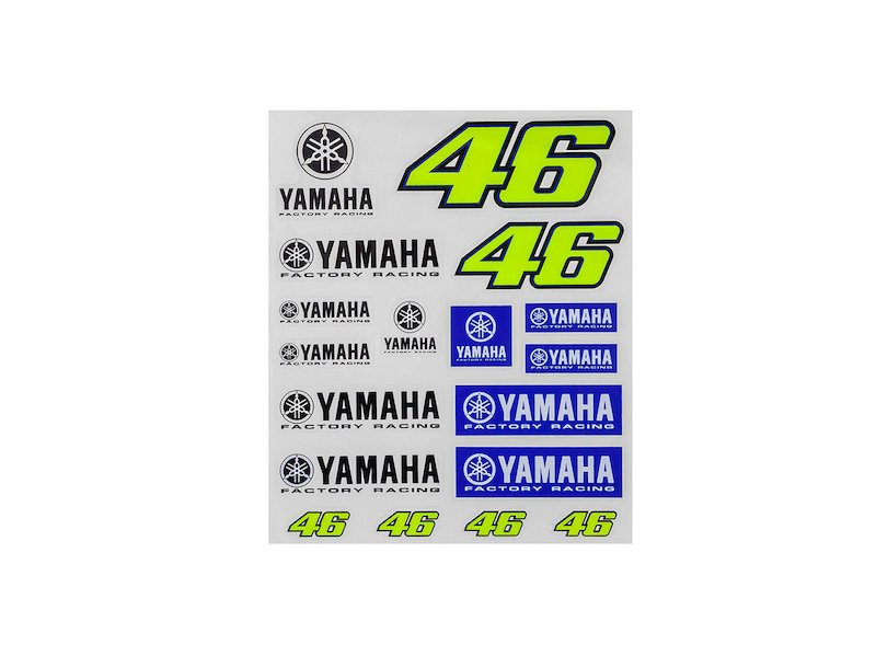 Valentino Rossi Yamaha Factory Racing Stickers - White