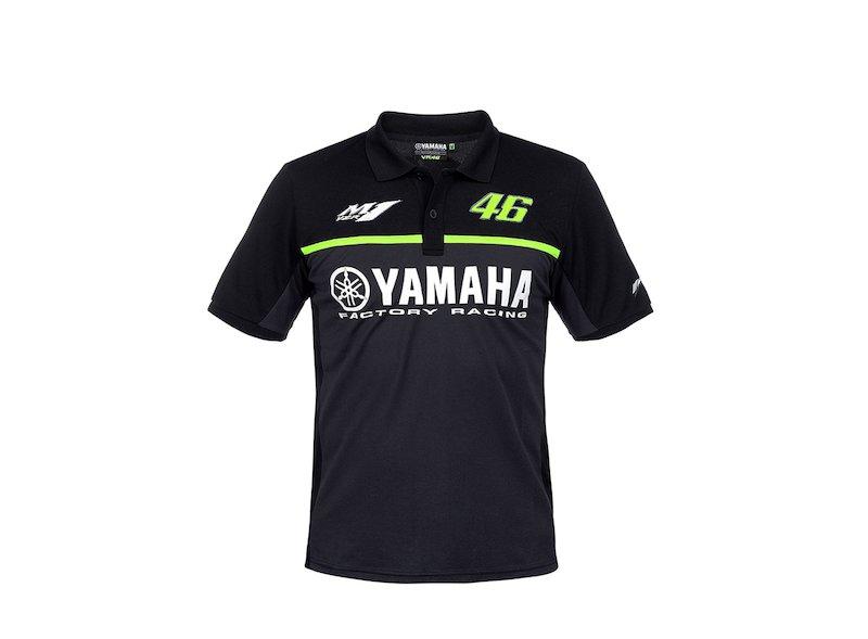 Yamaha VR46 2017 Polo Shirt Black