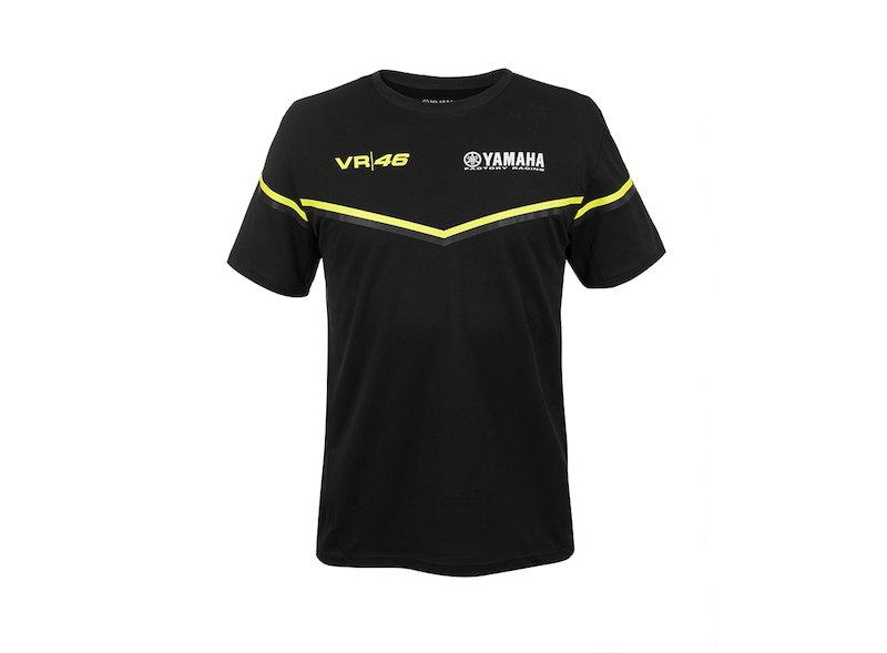 Maglietta Valentino Rossi Yamaha Nera