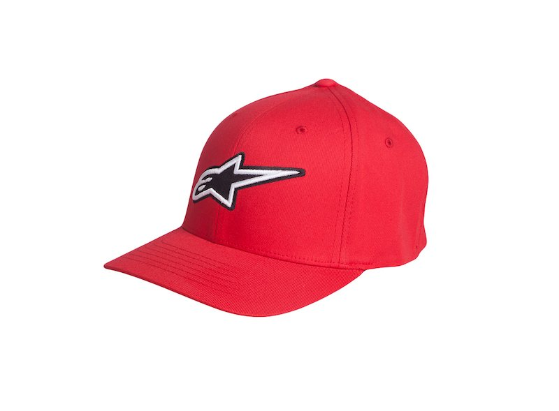 Alpinestars Corporate Red Cap - White