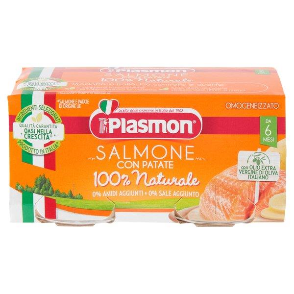 Plasmon Omogeneizzato Salmone con Patate 2 x 80 g