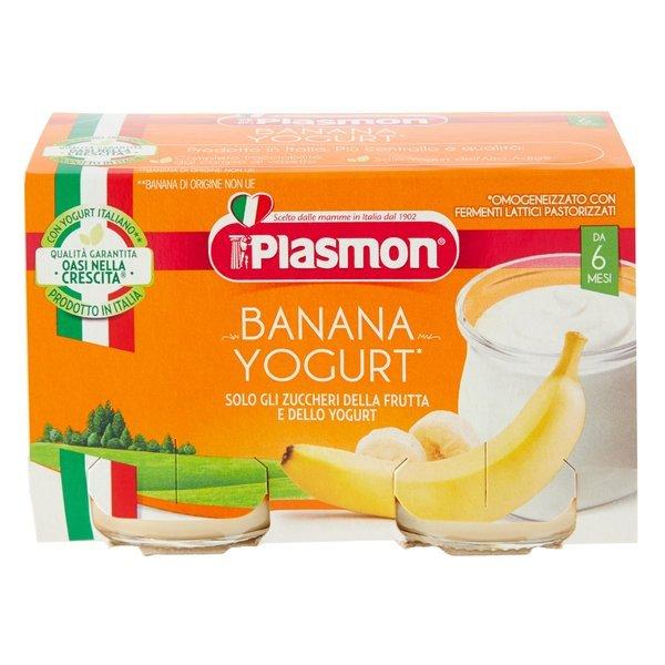 Plasmon Banana Yogurt* Omogeneizzato con Fermenti Lattici Pastorizzati 2 x 120 g