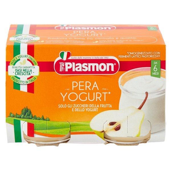 Plasmon Pera Yogurt* Omogeneizzato con Fermenti Lattici Pastorizzati 2 x 120 g