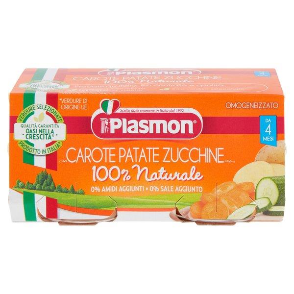 Plasmon Omogeneizzato Carote Patate Zucchine 2 x 80 g